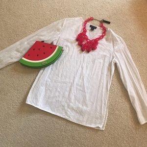 ✨2/$20 ANN TAYLOR White Tunic Top